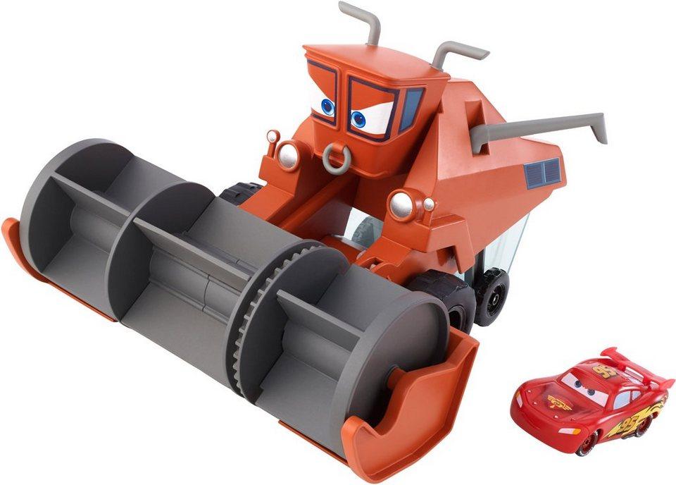 Mattel Mähdrescher mit Funktion, »Disney Cars, Autojagd & Farbwechsel Frank« in orange