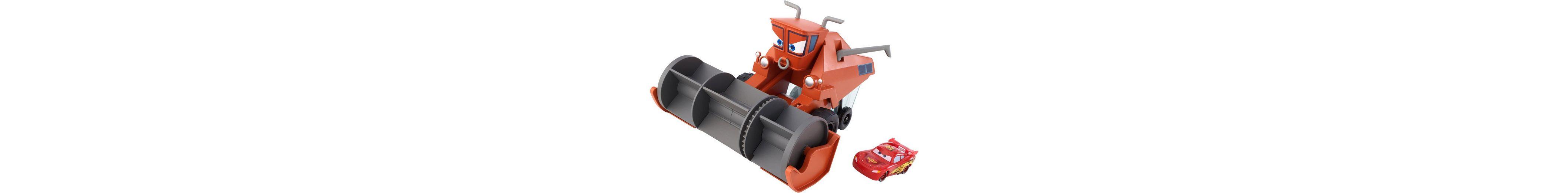 Mattel Mähdrescher mit Funktion, »Disney Cars, Autojagd & Farbwechsel Frank«