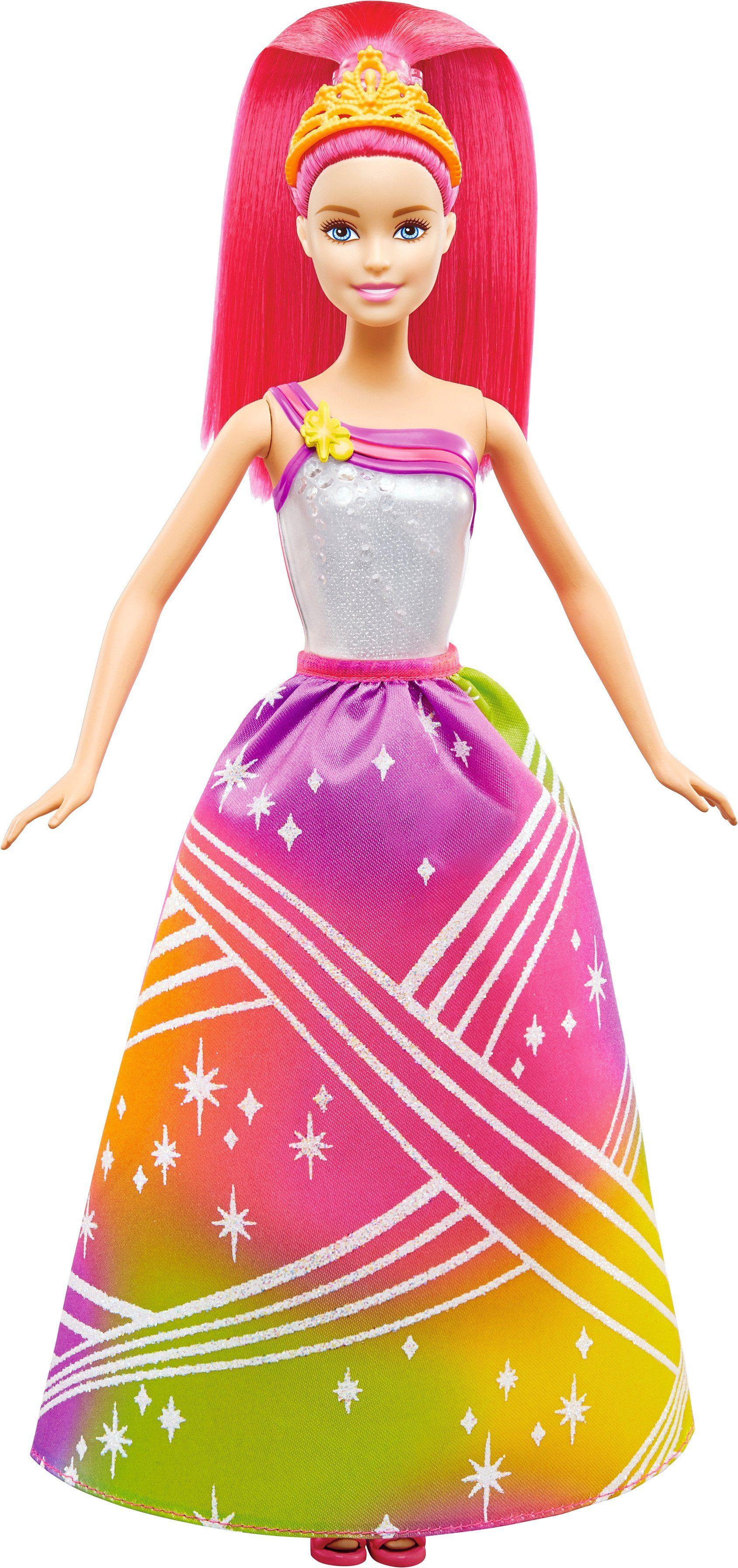 Mattel Puppe mit Lichteffekten, »Barbie Regenbogenlicht Prinzessin«