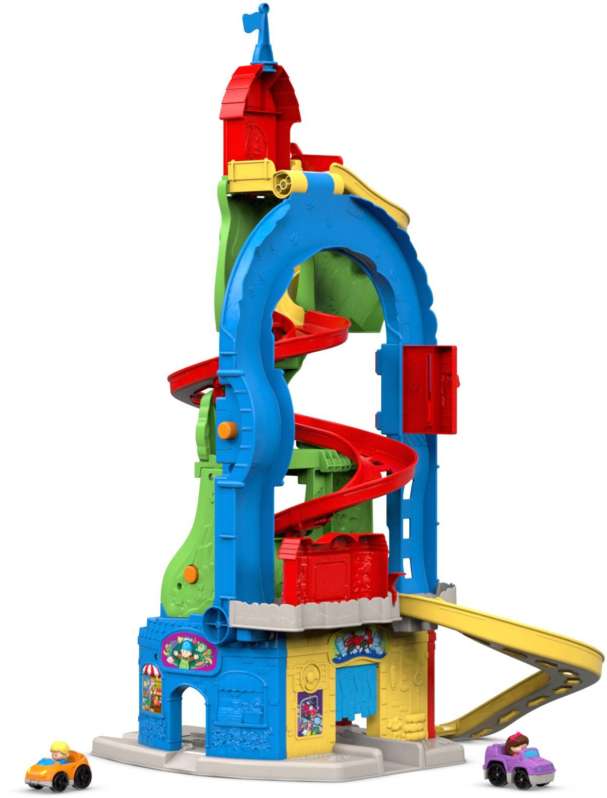 Fisher Price Spielparkhaus, »Little People, Hochhausrennbahn«
