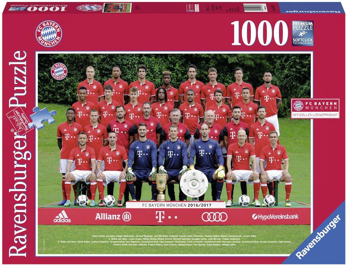 Ravensburger Puzzle, 1000 Teile, »FC Bayern M. Saison 16/17«