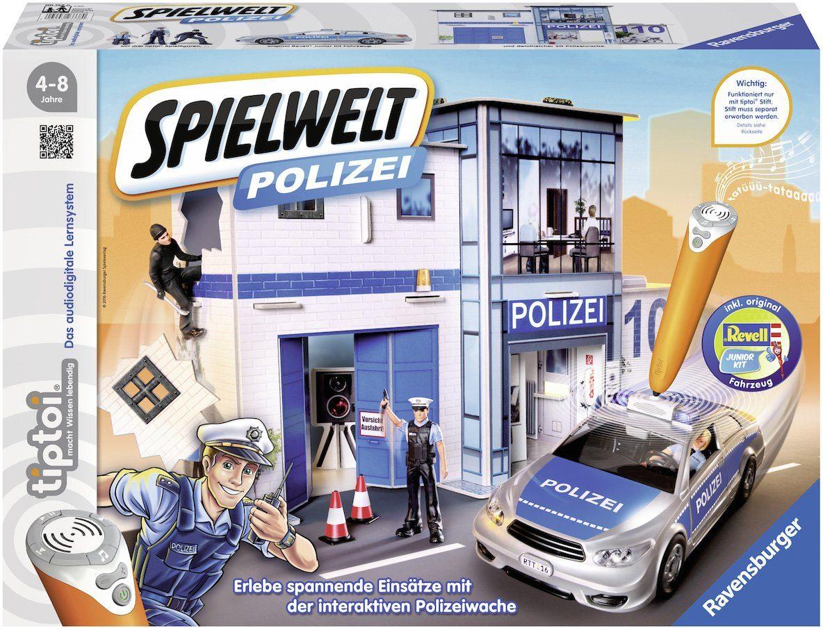 Ravensburger Set aus: Spielfiguren, Polizeiauto, Juwelier, Wache, »tiptoi®, Spielwelt Polizei«