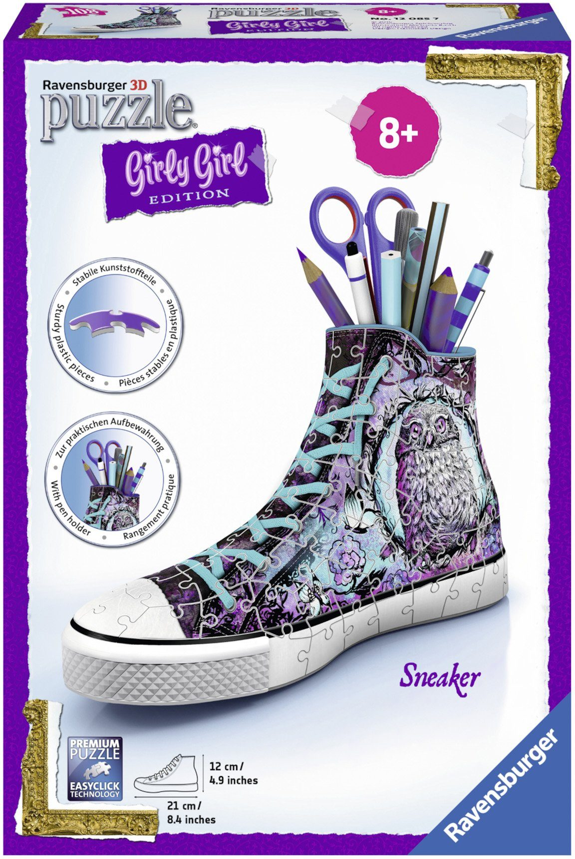 Ravensburger 3D Puzzle, 108 Teile, »Girly Girl, Sneaker Animal Trend«