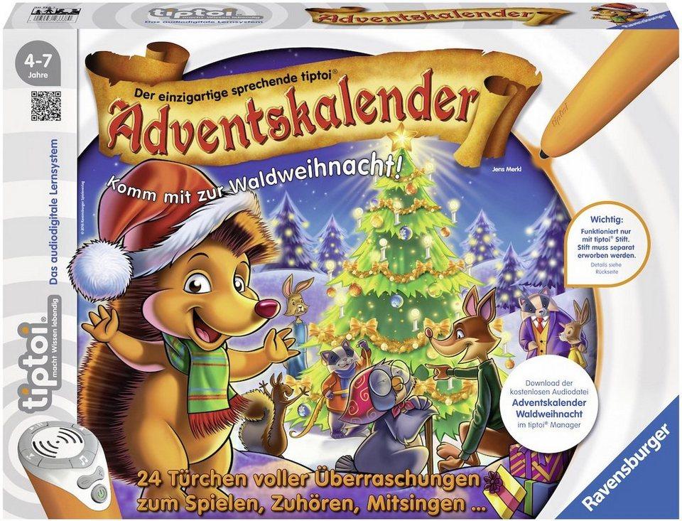Ravensburger Adventskalender, »tiptoi® Adventskalender Waldweihnacht der Tiere«