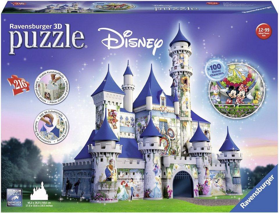 ravensburger 3d puzzle 216 teile disney schloss online. Black Bedroom Furniture Sets. Home Design Ideas