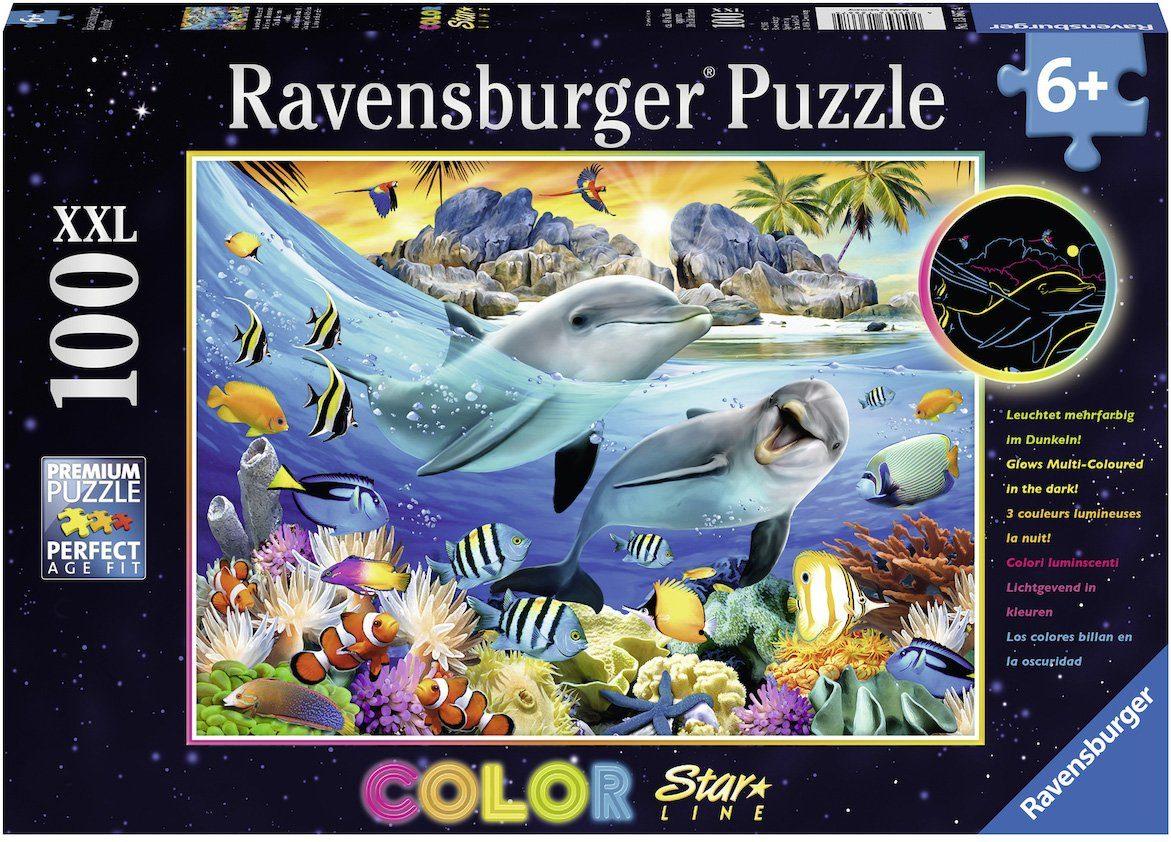 Ravensburger Puzzle, 100 XXL Teile fluoreszieren, »Color Star Line, Leuchtendes Korallenriff«