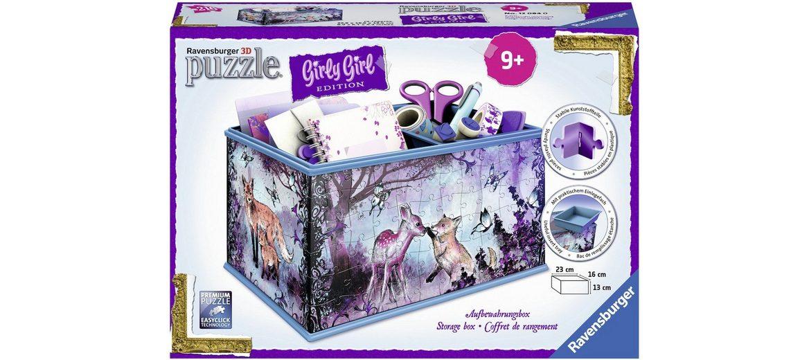 Ravensburger 3D Puzzle, 216 Teile, »Girly Girl, Aufbewahrungsbox Animal Trend«