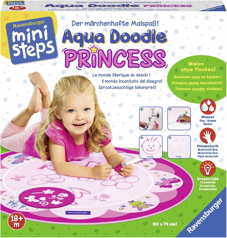 Ravensburger Set bestehend aus: Malmatte und Stift, »ministeps® Aqua Doodle® Princess«