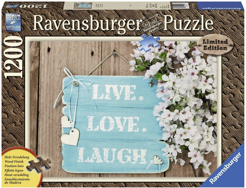Ravensburger Puzzle, 1200 Teile, »Live. Love. Laugh.«