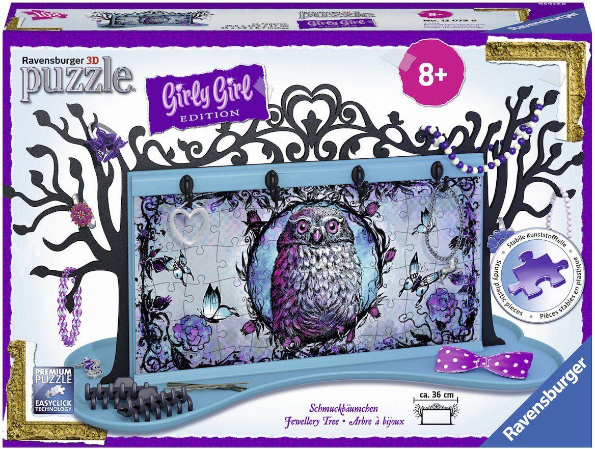 Ravensburger 3D Puzzle, 108 Teile, »Girly Girl, Schmuckbäumchen Animal Trend«