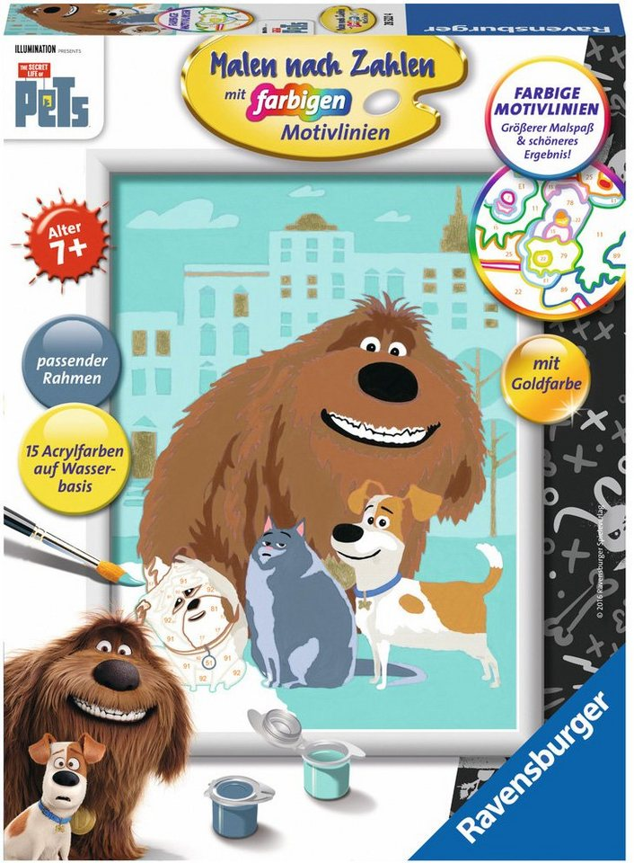Ravensburger Malen nach Zahlen, »Illumination Entertainment, PET: Pets«
