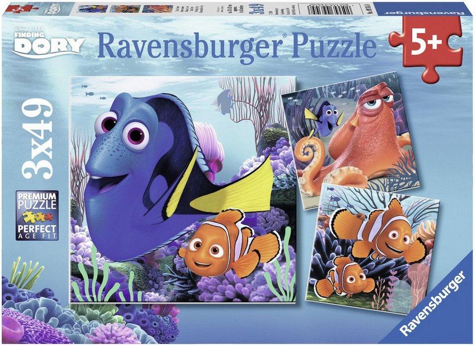 Ravensburger Puzzle, 3x49 Teile, »Disney/Pixar, Finding Dory, Findet Dory«