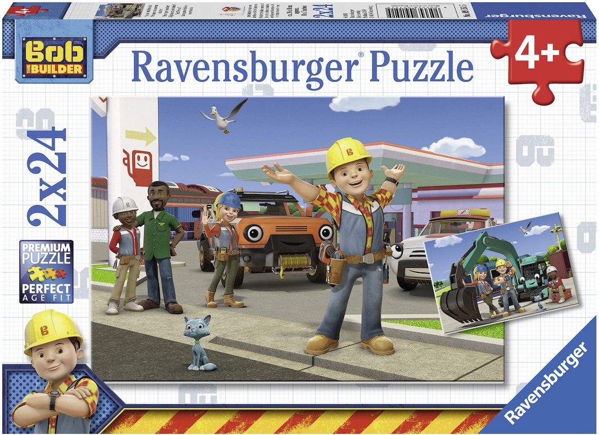 Ravensburger Puzzle, 2x24 Teile, »Bob der Baumeister, Yo, wir schaffen das!«