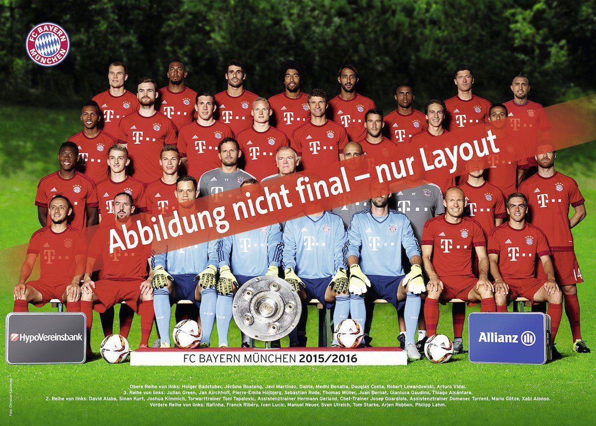 Ravensburger Puzzle, 300 Teile, »FC Bayern München Saison 2016/17«