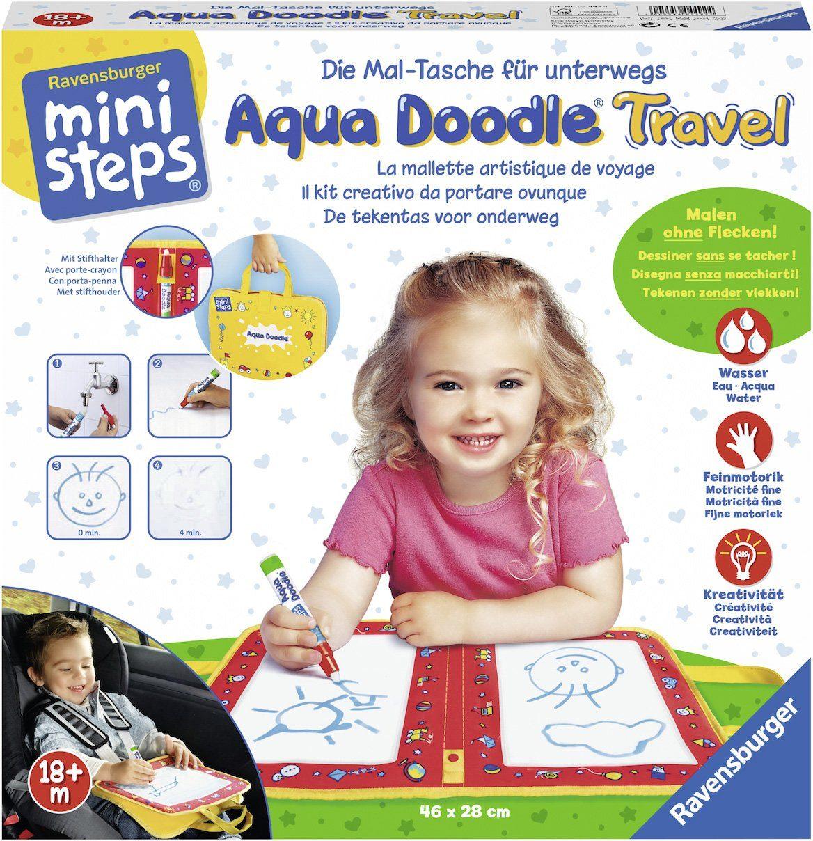 Ravensburger Set bestehend aus: Malmatte und Stift, »ministeps® Aqua Doodle® Travel«