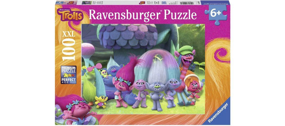 Ravensburger Puzzle, 100 XXL Teile, »DreamWorks, Spaß mit den Trollen«