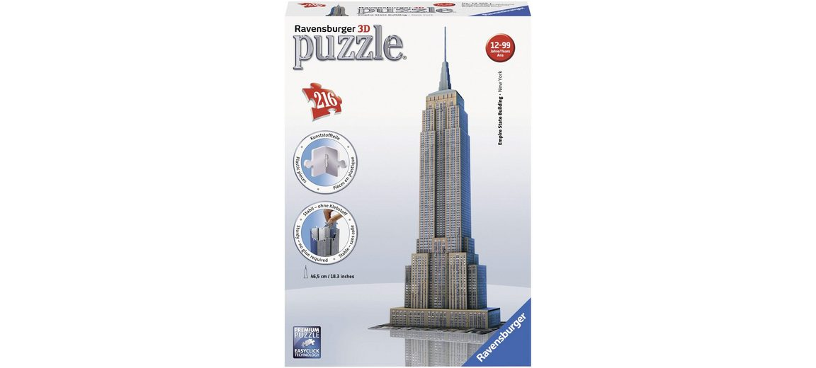 Ravensburger 3D Puzzle, 216 Teile, »Empire State Building«