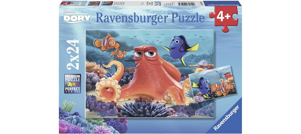 Ravensburger Puzzle, 2x24 Teile, »Disney Pixar, Finding Dory, Immer schwimmen«