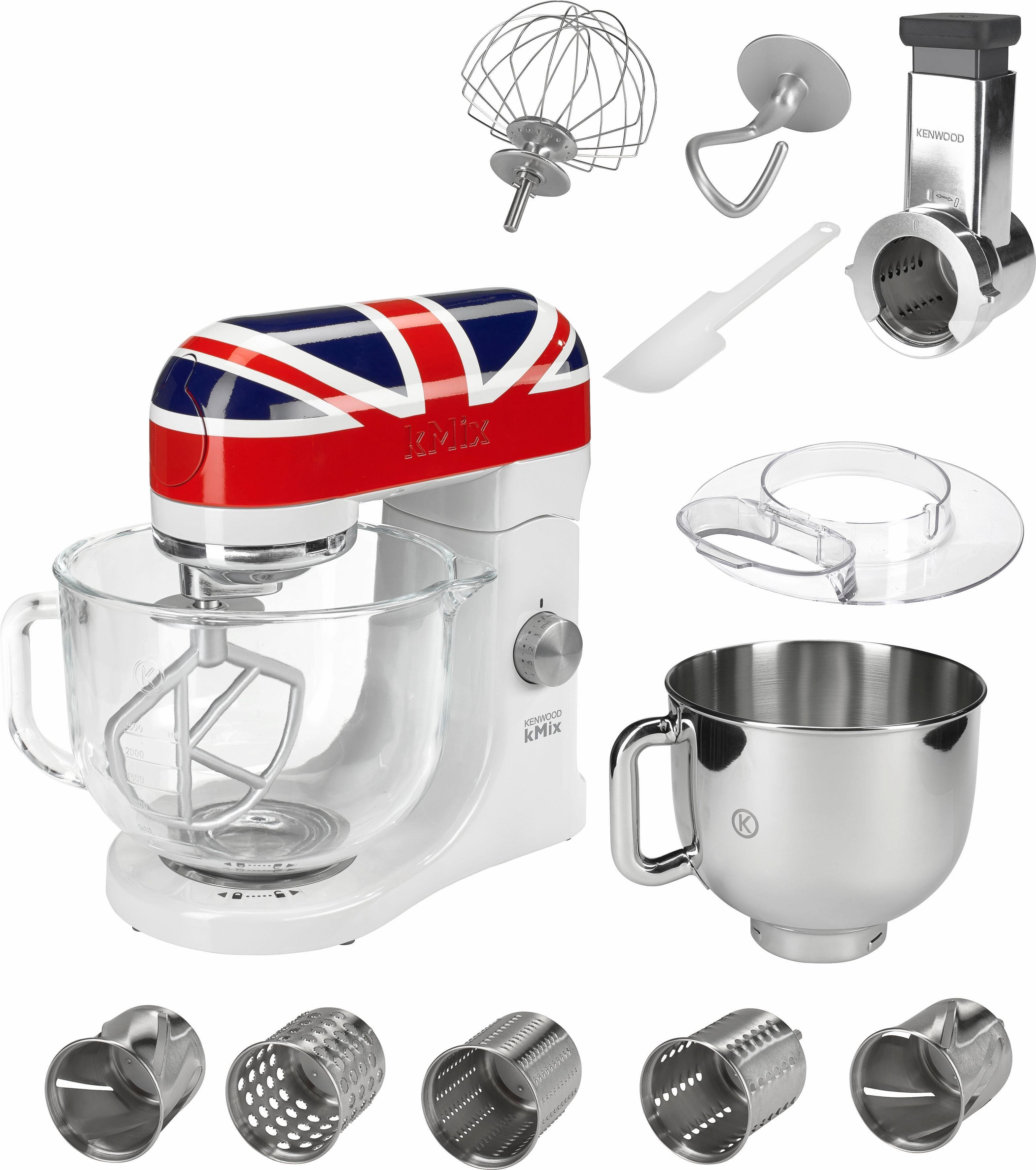 Kenwood Küchenmaschine kMix KMX50UJ - Gratis dazu: Trommelraffel+Edelstahlschüssel Wert 119,98€