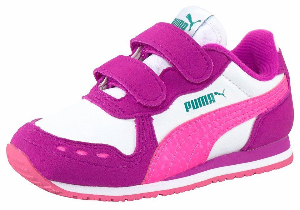 PUMA »Cabana Racer SL V Infant« Lauflernschuh in weiß-pink