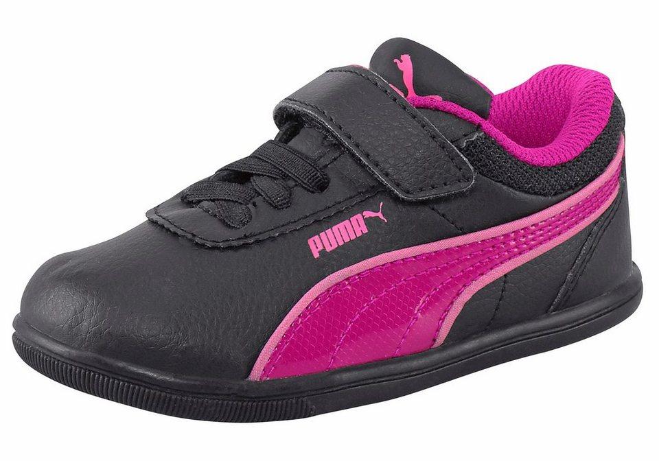 PUMA »Myndy 2 SL V Infant« Lauflernschuh in schwarz-pink