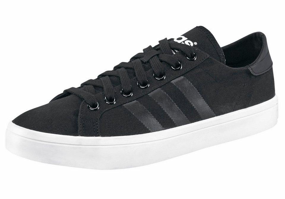 adidas Originals »Courtvantage« Sneaker in schwarz-schwarz-weiß