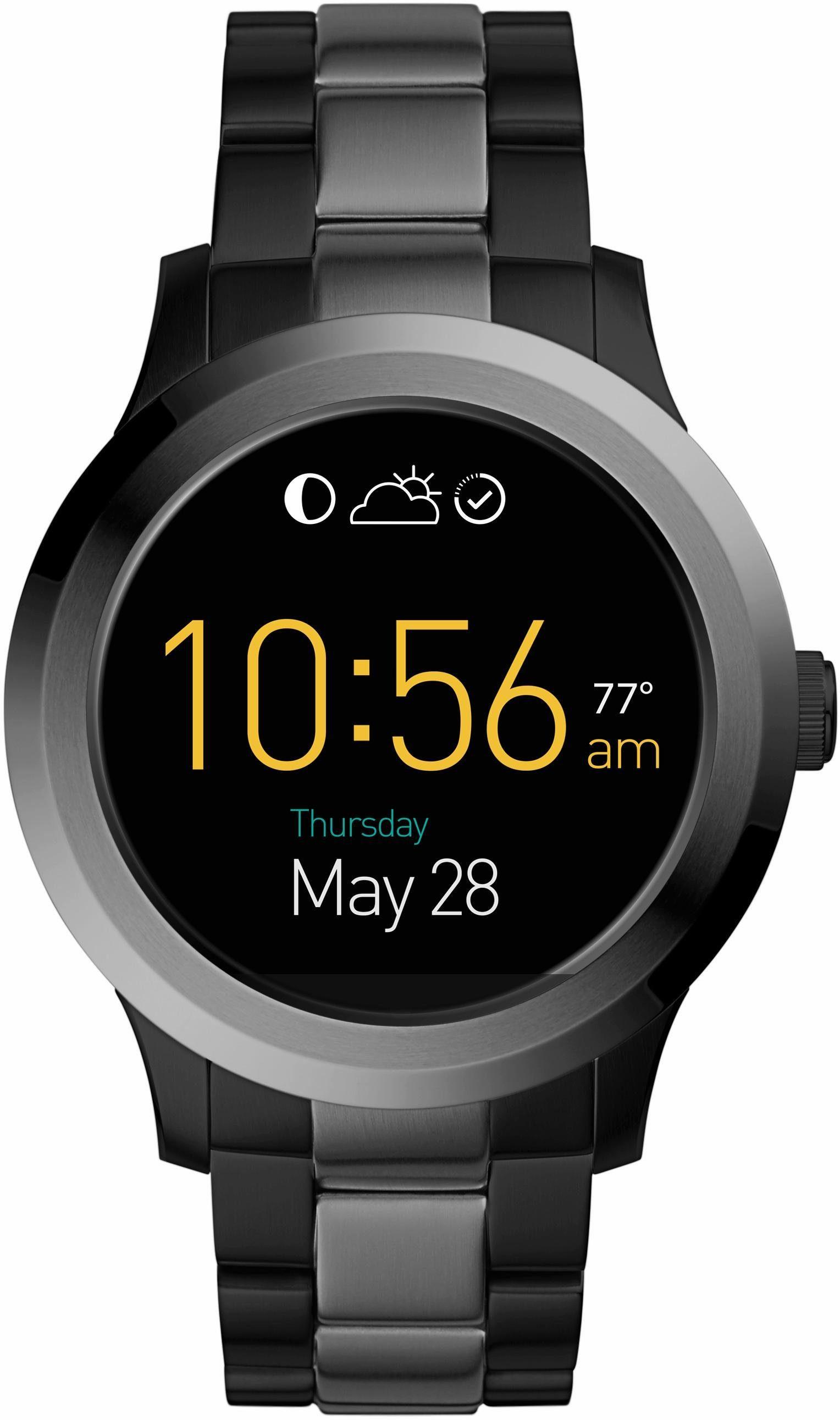 FOSSIL Q Q FOUNDER, FTW2117 Smartwatch (Android Wear, mit individuell einstellbarem Zifferblatt)