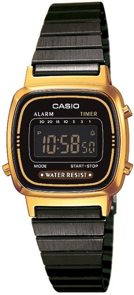 Casio Collection Chronograph »LA670WEGB-1BEF« in schwarz