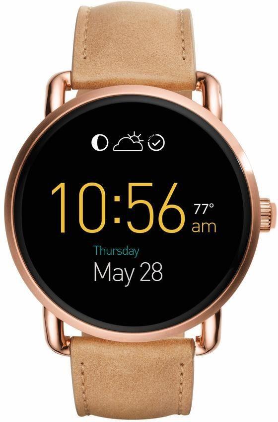 FOSSIL Q Q WANDER, FTW2102 Smartwatch (Android Wear, mit individuell einstellbarem Zifferblatt)