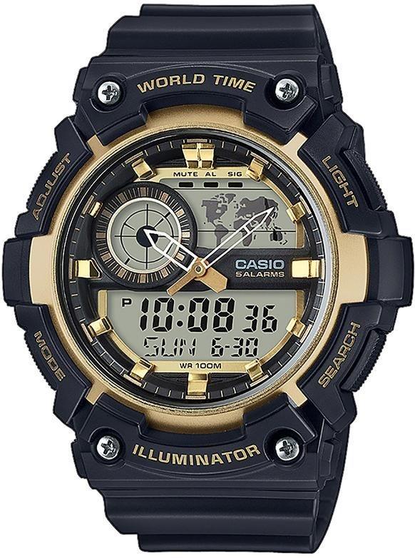 Casio Collection Chronograph »AEQ-200W-9AVEF« in schwarz