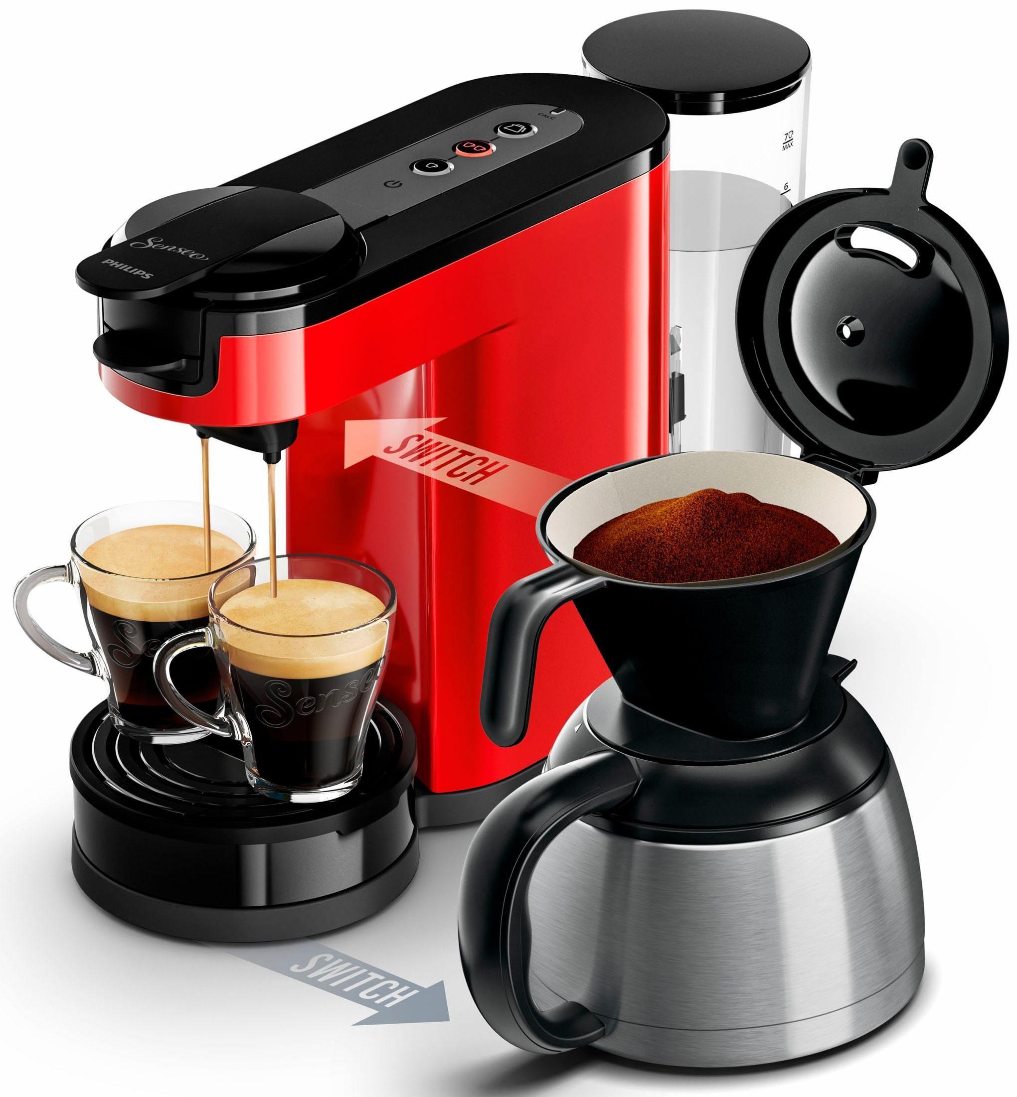 Senseo Kaffeepadmaschine SENSEO® Switch HD7892/80, Papierfilter
