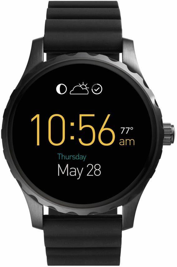 FOSSIL Q Q MARSHAL, FTW2107 Smartwatch (Android Wear, mit individuell einstellbarem Zifferblatt)