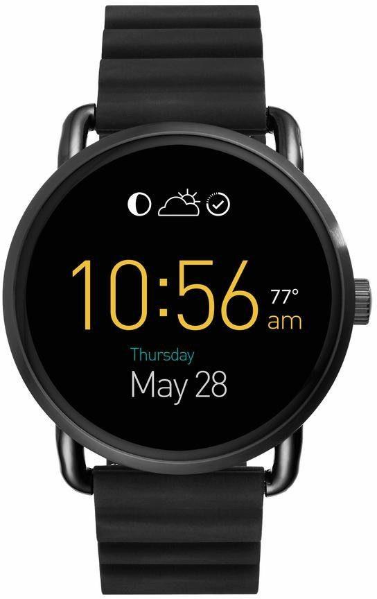 FOSSIL Q Q WANDER, FTW2103 Smartwatch (Android Wear, mit individuell einstellbarem Zifferblatt)