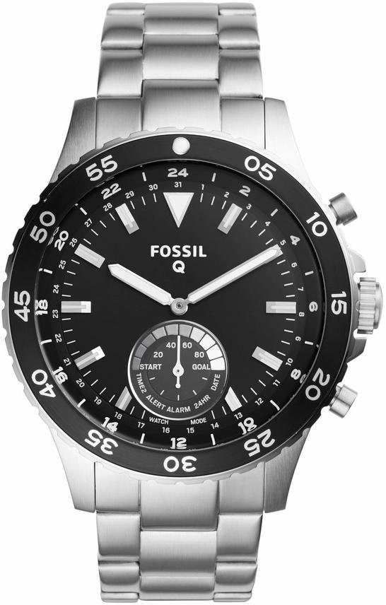 FOSSIL Q Multifunktionsuhr »Q CREWMASTER, FTW1126« in silberfarben