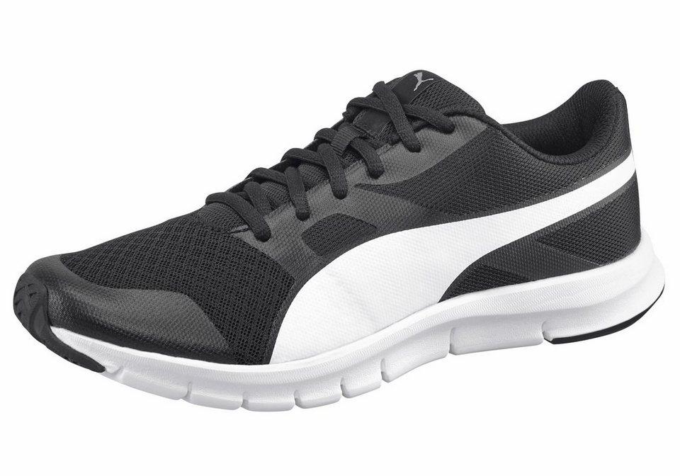 PUMA »Flexracer« Laufschuh in schwarz-weiß