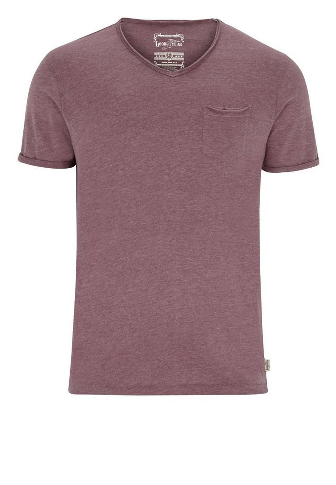 Goodyear T-Shirt HENRICO »HENRICO« in Marl Red