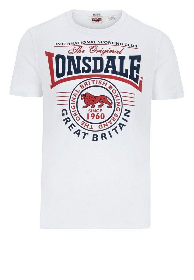 Lonsdale T-Shirt GREAT MALVERN »GREAT MALVERN« in White