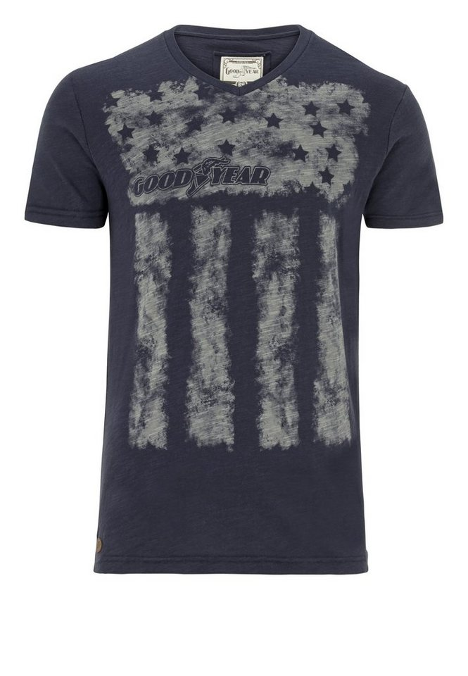 Goodyear T-Shirt »WACO« in Vintage Navy