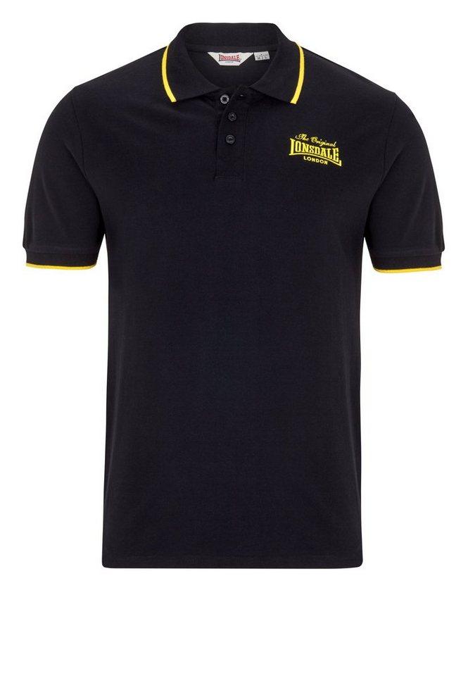 Lonsdale Poloshirt »CROYDON« in Black