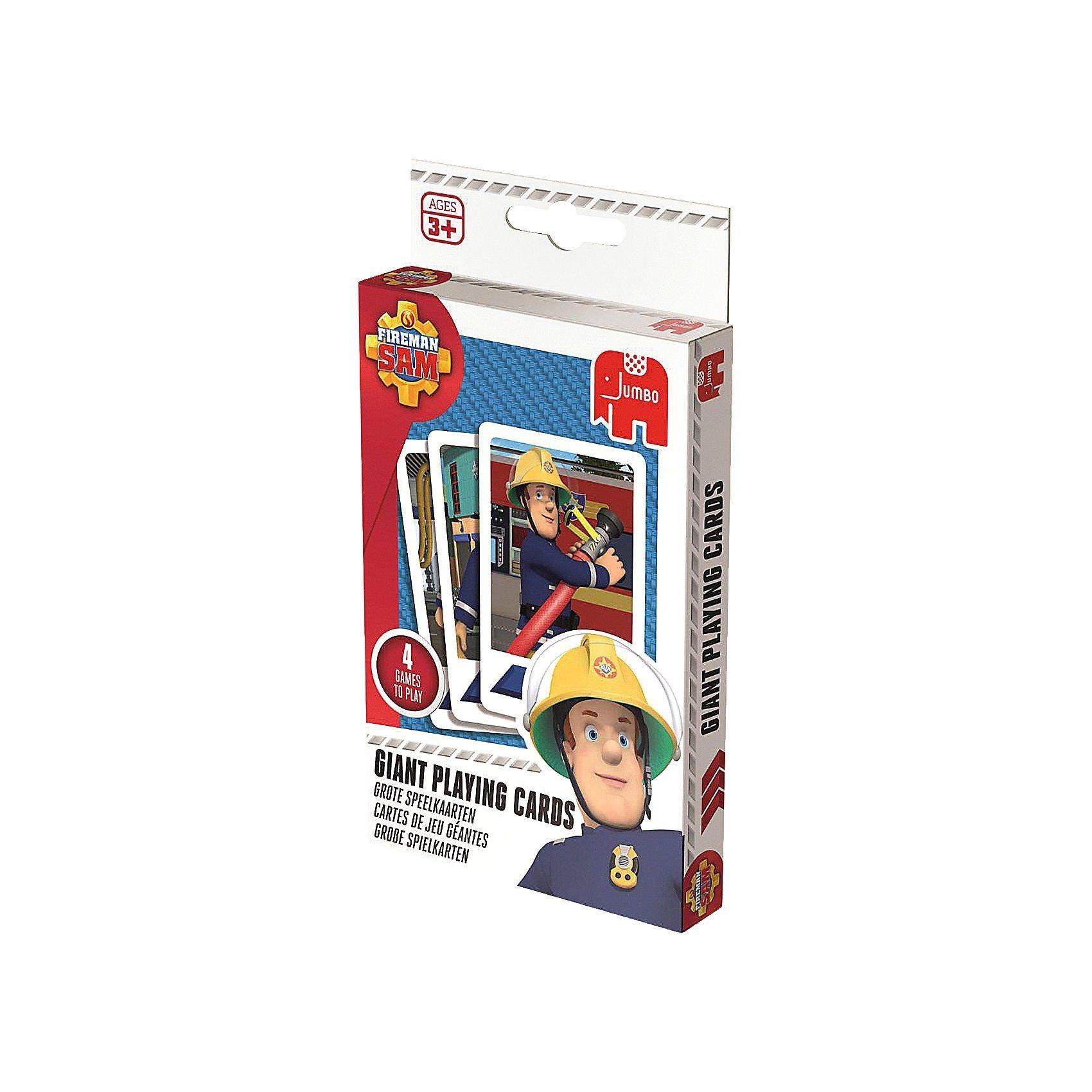 Jumbo Große Spielkarten - Feuerwehrmann
