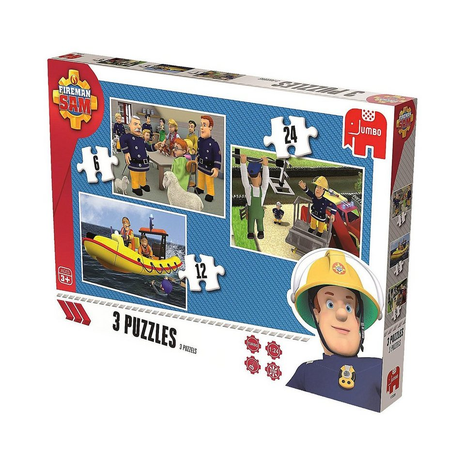 Jumbo Trio Puzzle 6/12/24 Teile - Feuerwehrmann Sam