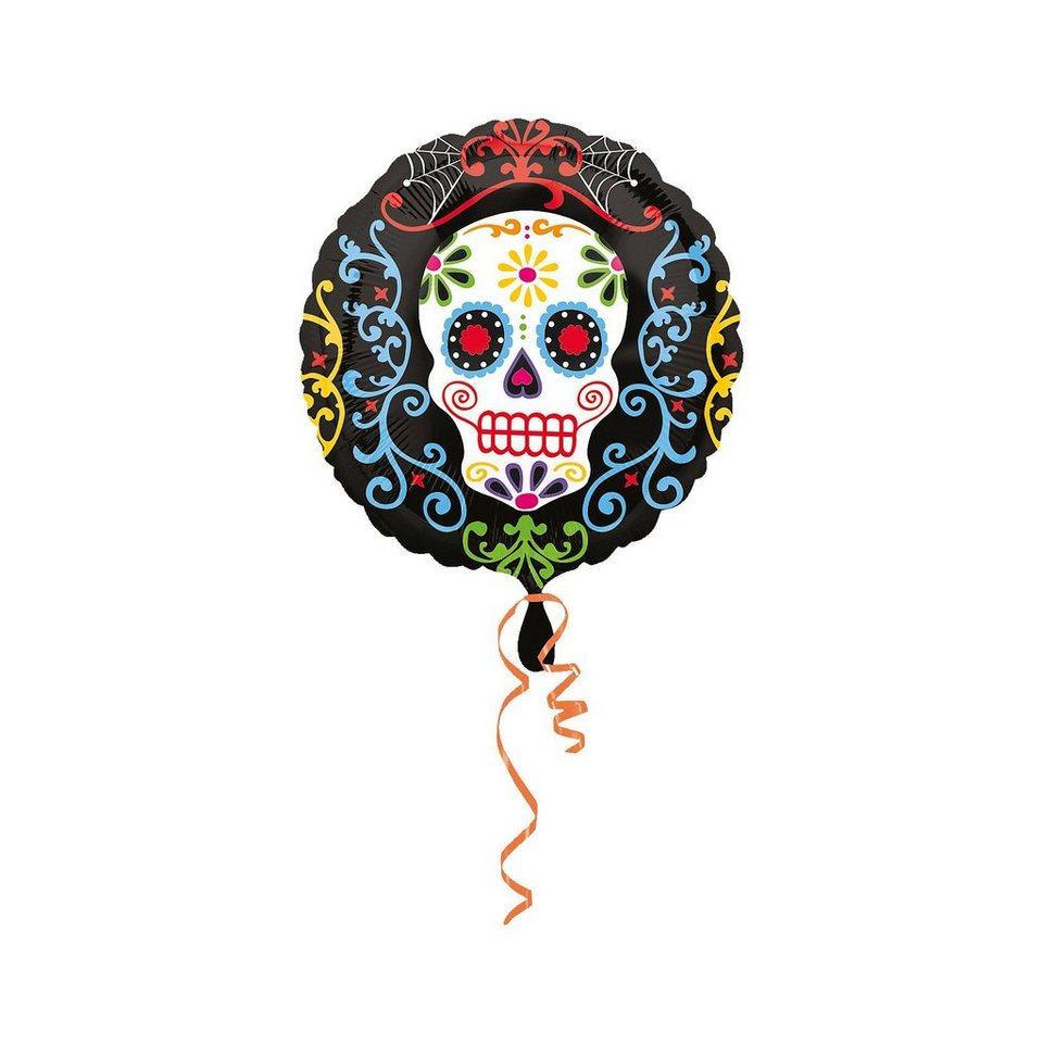 Amscan Folienballon Halloween Day of the Dead, Standard