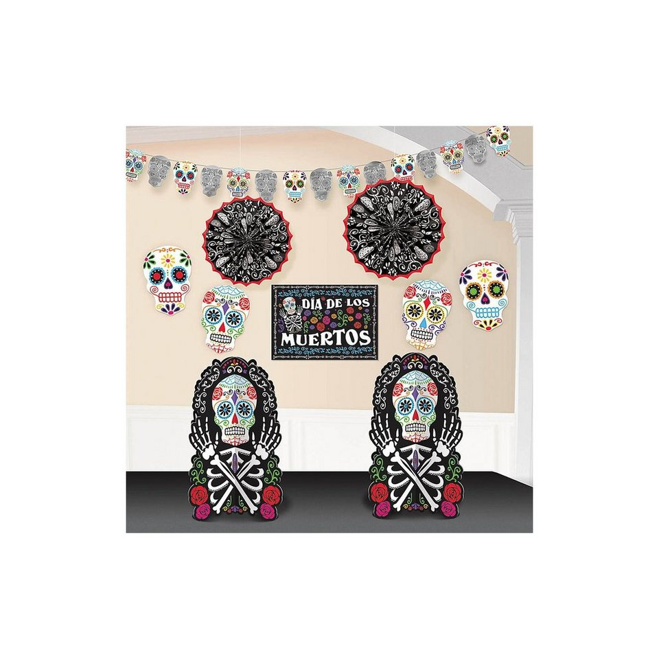 Amscan Dekoset Halloween Day of the Dead, 10-tlg.