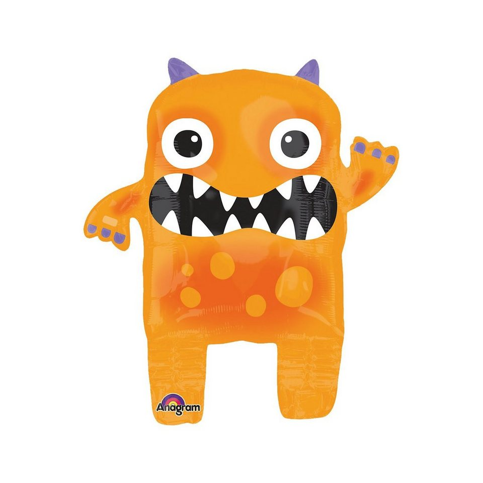 Amscan Folienballon Oranges Monster Halloween Family Friendly, 48 x