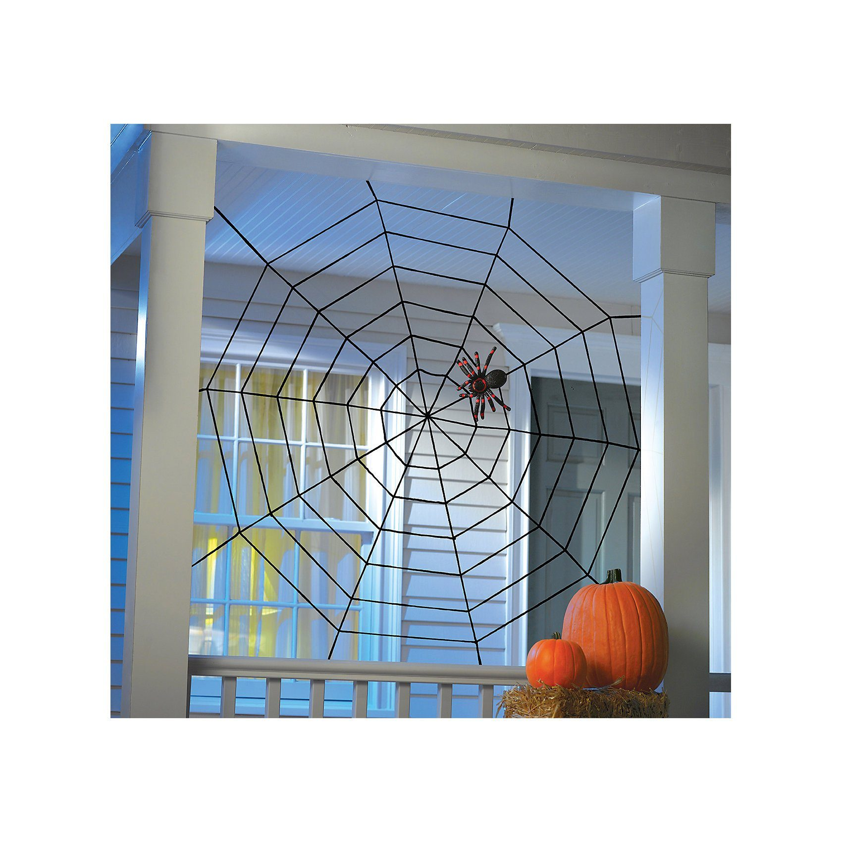 Amscan Deko Spinnennetz Halloween Classic, 1,5 x 1,5 m