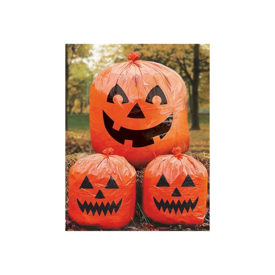 Amscan Kürbisbeutel Halloween Family Friendly, 3 Stück