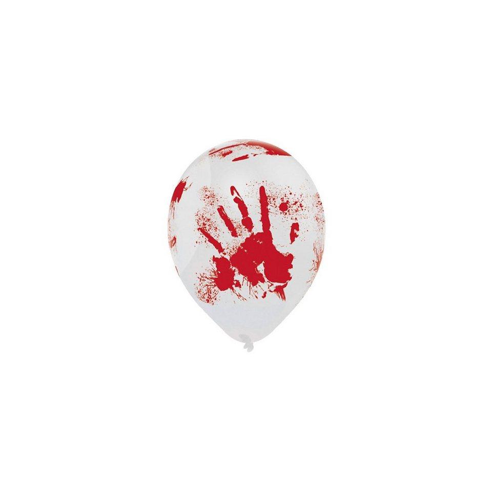 Amscan Luftballons blutige Hand Halloween Sinister Surgery, 6 Stück