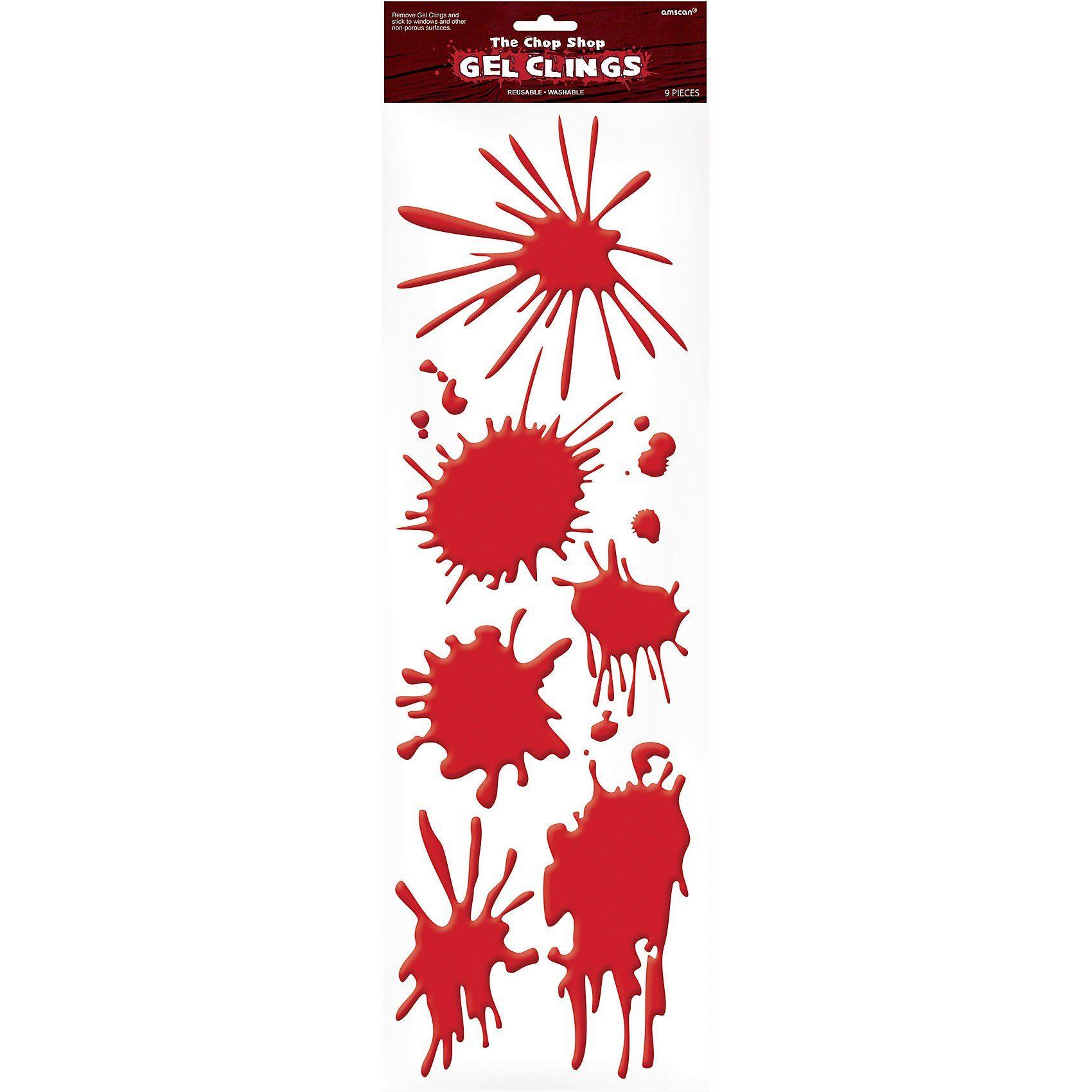 Amscan Gel-Sticker Blutflecken Halloween Sinister Surgery