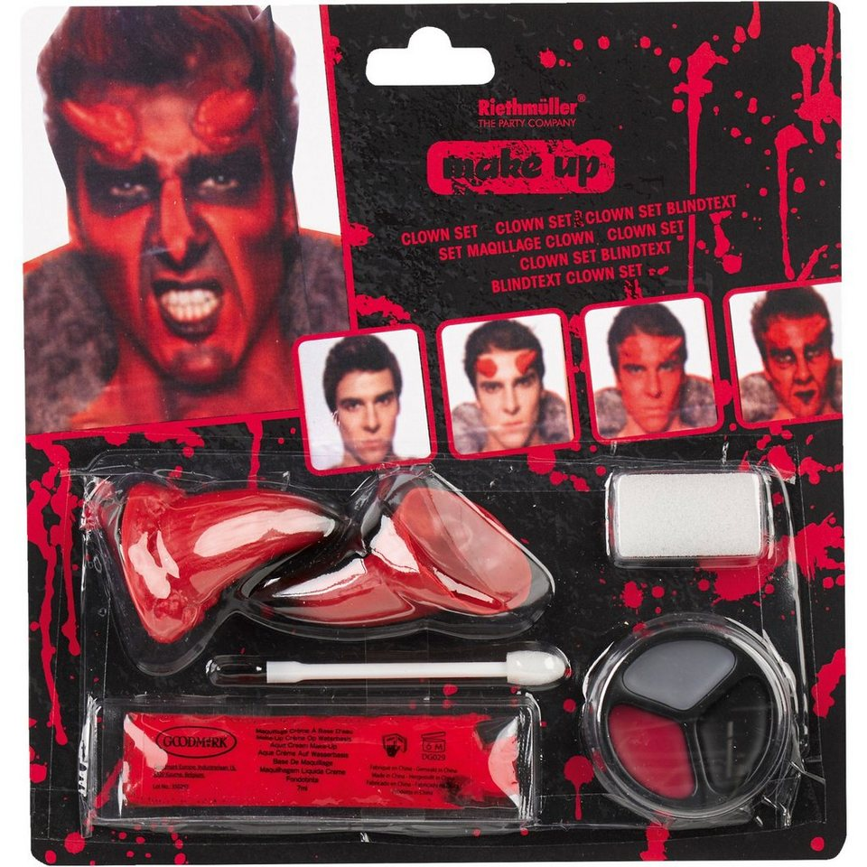 Amscan Make up Teufel Halloween Classic