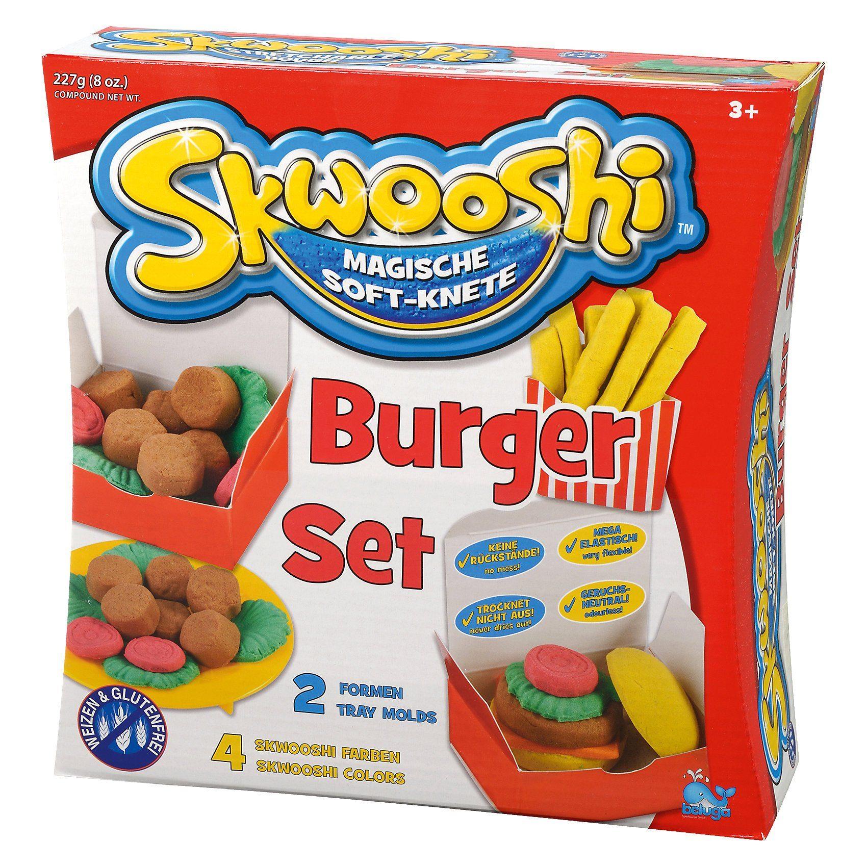 Beluga Skwooshi Soft-Knete Burger Set